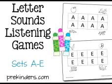 Letter Sounds Listening Games A-E