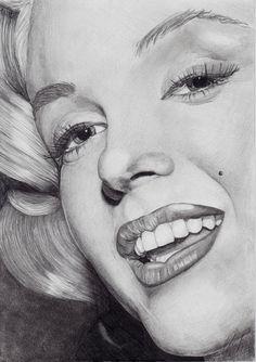 Marilyn Monroe by ~Ehvh on deviantART (pencil drawing) #Art #MarilynMonroe