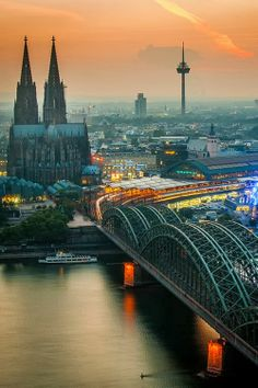 Sunset over Cologne, Germany. Our tips for 25 things to do in Germany: http://www.europealacarte.co.uk/blog/2011/11/21/what-to-do-in-germany/