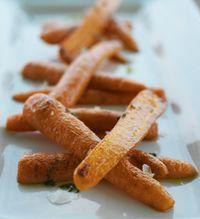 Bagte gulerødder i citrusolie