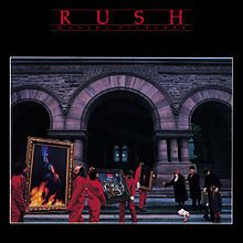 The album cover was taken in front of the Ontario Legislative Building at Queen's Park, Toronto.  Hugh Syme is a Canadian Juno Award-winning graphic artist who is best known for his artwork and cover concepts for rock and metal bands.