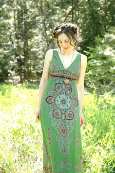 Batik Sundress Summer Maxidress Hand Dyed by AstralBoutique, $48.00