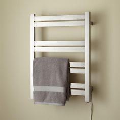 "20"" Brenton Tall Plug-In Towel Warmer - Brushed Finish"