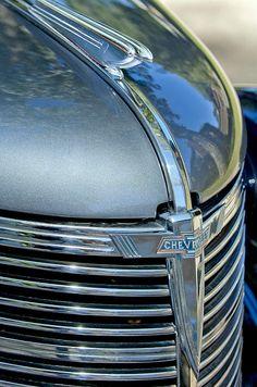 1938 Chevrolet Hood Ornament - Car photographs  by Jill Reger