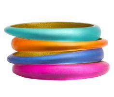 Alexis Bittar Bangles - neon trend