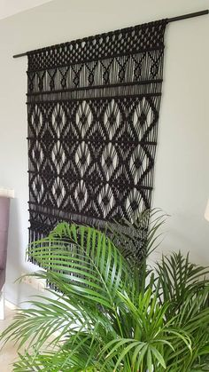 Gives peace and a warm and chic look. Atmospheric in every interior Regal Design, Wall Ornaments, Wall Clock Design, Large Macrame Wall Hanging, Gifts For Office, Scandinavian Interior, Thing 1, Boho Decor, Diy Design