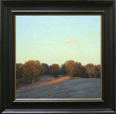 Kevin Courter painting, Light's First Touch, 15x15