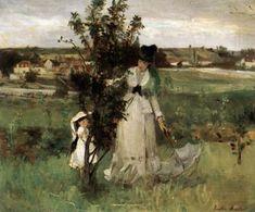 Hide and Seek. Berthe Morisot was a French painter, member of the Impressionism movement. She married Eugène Manet, who was a brother of Édouard Manet. Pierre Auguste Renoir, Edouard Manet, French Impressionist Painters, Impressionist Paintings, Mary Cassatt, Camille Pissarro, Paul Cezanne, Claude Monet, Berthe Morisot