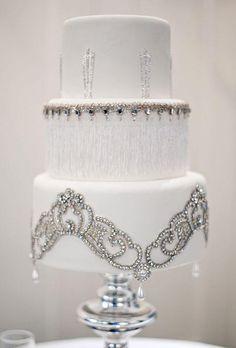 Wedding Cakes that Sparkle