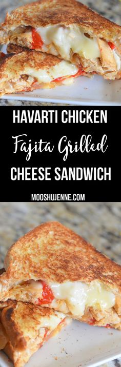 For this Havarti Chicken Fajita Grilled Cheese Sandwich I did just that. I made oven chicken fajitas and used the leftovers for this sandwich. via @mooshujenne
