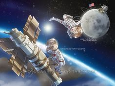 Fan Art of The Space Race for fans of Hetalia. I really want to see the Space Race in Hetalia!
