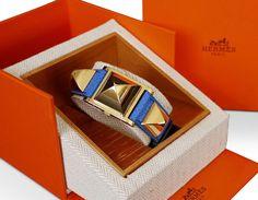 Hermes Medor Wirst Watch Blue Vintage