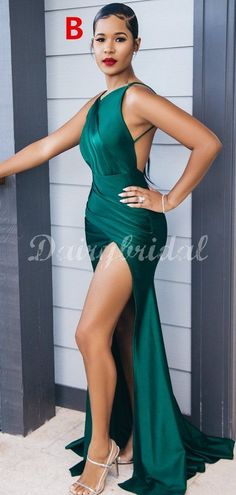 Charming Mismatched Mermaid Sexy High Slit Bridesmaid Dress, FC4468 #bridesmaiddresses #bridesmaiddress #bridesmaids #dressesformaidofhonor #weddingparty #2021bridesmaiddresses #2021wedding Inexpensive Bridesmaid Dresses, Tea Length Bridesmaid Dresses, Wedding Bridesmaids, Wedding Gowns, Best Wedding Colors, Dress Backs, Dream Dress, Sexy Dresses, Formal Dresses