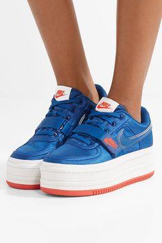 0cd9ede69fb1 Nike - Vandal 2K faux leather-trimmed metallic faille platform sneakers
