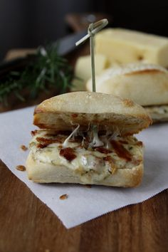Cheesy Pancetta Panini from @Bellalimento.  Oh my!