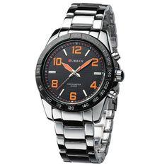 Fashion Quartz Casual Man Wrist Watch full steel