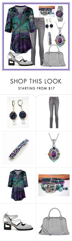 """Shades of Lavender & Mint"" by aurorasblueheaven ❤ liked on Polyvore featuring M.i.h Jeans, Bling Jewelry, Simply Aster, Fiorelli and Gucci"
