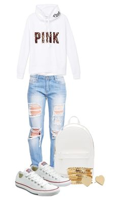 """""""Untitled #313"""" by mercedes-designs on Polyvore featuring PB 0110, Victoria's Secret PINK, Converse and Kate Spade"""