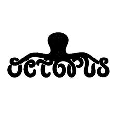 Octopus Books Graphic Design Layouts, Graphic Design Typography, Logo Design, Octopus Design, Octopus Art, Design Kaos, Logo Restaurant, Band Logos, Animal Logo