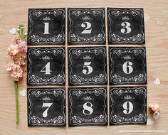 free chalkboard table number printable