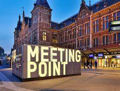 Train Station Hoardings, Netherlands @_designjunction #ambienttypography #type via @tomjohn001