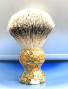 Handmade Silvertip Shaving Brush with US made Leopard Skin Jasper Tru-stone Straight Razor Shaving, Shaving Razor, Shaving Brush, Wet Shaving, Gillette Razor, Shaving & Grooming, Hair Knot, Safety Razor, Woodturning