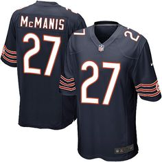 Nike Game Sherrick McManis Navy Blue Men's Jersey - Chicago Bears #27 NFL Home