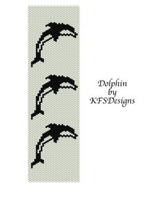 Peyote Dolphin Bracelet Pattern