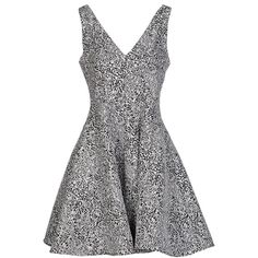 Opening Ceremony Short Dress ($430) ❤ liked on Polyvore featuring dresses, light grey, sleeveless flare dress, pocket dress, short sleeveless dress, mini dress and v neck short dress