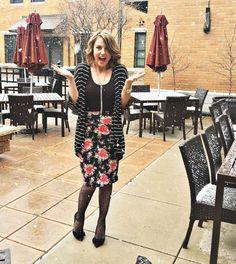 LuLaRoe Cassie pencil skirt and Lindsey Kimono