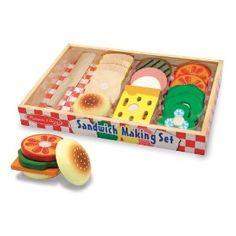 SABLON 513 - Melissa & Doug - Sandwich-Zubereitungs-Set (17-teilig)