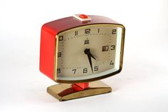 Vintage Red MELUX alarm clock in working conditions 60's