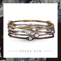 Armreifen von: Julie Julsen #Schmuck #Armreifen High, Gold Rings, Cool Style, Rose Gold, Bling, Gemstones, Bracelets, Accessories, Bangles