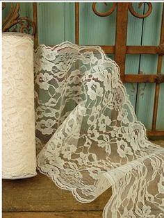 Ivory Lace 30 Feet Free Shipping  http://www.tradesy.com/weddings/wedding-decorations/ivory-lace-30-feet-free-shipping-702416