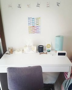 Another Day, Another clean desk 😜👐 White Desk Inspiration White Desk Inspiration, Clean Desk, White Desks, Desk Ideas, My Room, Office Desk, Furniture, Home Decor, Clear Desk