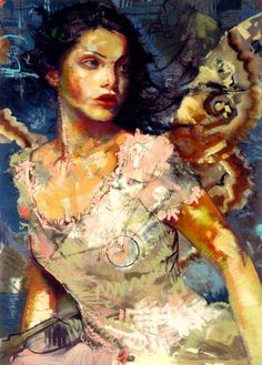 Charles Dwyer  Love this painting - especially her expression & the wings but that bottom left corner really bugs me.....