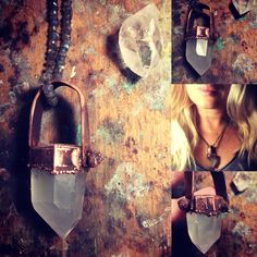 #pendant, #copper, #quartz, #raw, #jewelry
