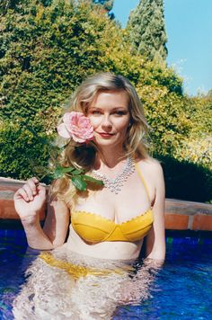 Kirsten Dunst photographed by Juergen Teller, styled by Felicia Garcia-Rivera; W Magazine Sofia Coppola Special May 2014.