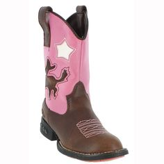 Roper Kid's Inlay Light-Up Heel Western Boots