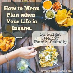 How to menu plan on