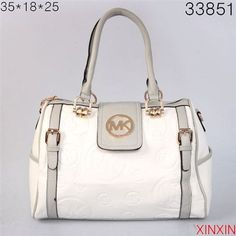 Mk Bags Michael Kors Logo-Print Large White Satchels - Another! Cheap Michael Kors Bags, Michael Kors Satchel, Michael Kors Shoulder Bag, Handbags Michael Kors, Shoulder Bags, Wholesale Handbags, Cheap Handbags, Handbags On Sale, Designer Inspired Handbags