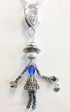 Glass Jewelry, Wire Jewelry, Jewelry Crafts, Jewelry Art, Beaded Jewelry, Jewelery, Crochet Jewelry Patterns, Beaded Angels, Artisanal
