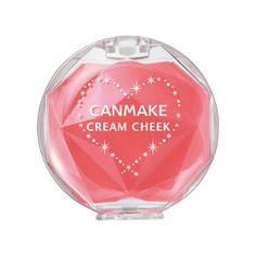 キャンメイク クリームチーク  No.CL06 クリアピーチシュガー 桃のような透明感ピンクの、愛されキュートな上気ほっぺに。¥580