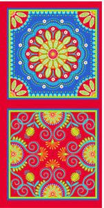 Fabric Sale Gypsy Bandana Panel in Red by Pillow and Maxfield for Michael Miller Fabrics