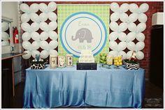 mural de bexigas elefante