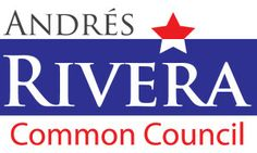 Andres Rivera for Common Council logo, by Jennet Mae Jones design