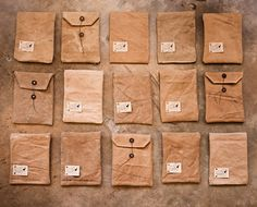 Brown paper packages tied up with string. These are few of my favourite things.