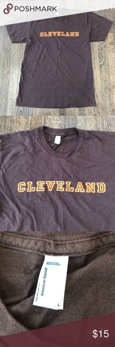 """CLEVELAND"" Men's Shirt from Market Garden Brewery ""CLEVELAND"" Men's Shirt from Market Garden Brewery. Shirt brand is American Apparel and is unisex. Shirts Tees - Short Sleeve"