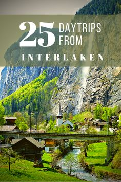 The only travel guide you need for your trip to Interlaken! With the most stunning day trips from Interlaken, like the Jungfraujoch, Blausee, Iseltwald and many more.. #SwissAlps #Switzerland #Mountains #Lauterbrunnen #BerneseOberland #MySwitzerland | Daytrips Interlaken