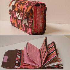 Pink and Orange Print Envelope Carrier
